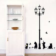 popular cats silhouette sticker buy cheap cats silhouette sticker