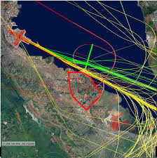 San Francisco Airport Map by Fly Quiet Program Http Www Flysfo Com