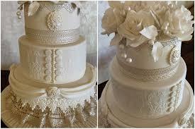 cream roses and lace wedding cake u2013 cakesbypat