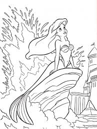 little mermaid coloring pages ariel smile coloringstar