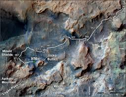 Mars Map Curiosity U0027s Path To Some Spring 2015 Study Sites Nasa