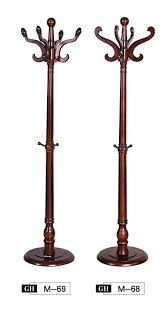 furniture solid wood standing coat rack with nice curved hooks