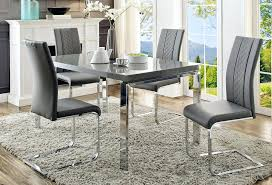 dining table modern gray dining room set chairs minimal table