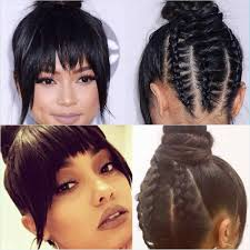 curly hair in high bun with bang best ideas of bang with bun hairstyles marvelous elegant