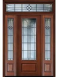 3 Panel Exterior Door Exterior Doors With Sidelights 1 Panel 3 4 Lite Cherry Walnut Door