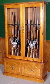 free gun cabinet plans with dimensions wood gun cabinet model 720 pine