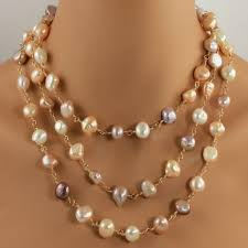 multi rope necklace images Multi colored long pearl necklace pearl gold rope necklace jpg