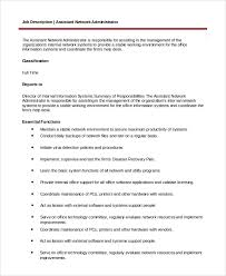 Information Desk Job Description Sample System Administrator Job Description 10 Examples In Pdf