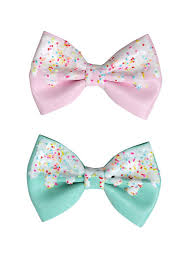 different types of hair bows pink mint icing sprinkles hair bow set hot topic