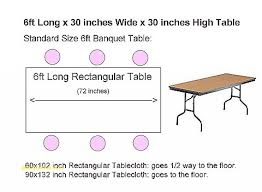 what size tablecloth for 8 foot table size of tablecloth for 8 foot rectangular table table designs