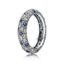 midnight blue wedding band midnight blue cosmic silver ring band pandora pandora e