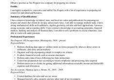 Sample Resume For Tax Preparer Sumptuous Design Ideas Tax Preparer Resume 5 Sample Resume Example