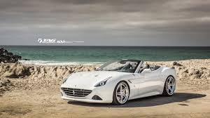 ferrari california 2018 ferrari california t hits the shoreline wearing custom alloys