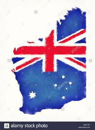 Th Flag Australia Flag Map Stock Photos U0026 Australia Flag Map Stock Images