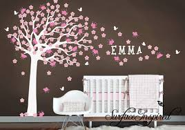 Cherry Blossom Tree Wall Decal For Nursery Nursery Wall Decal Large Cherry Blossom Tree Wall Decal For
