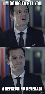 Funny Sherlock Memes - misleading moriarty i swear he has the strangest voice i have