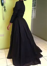 high collar black lace evening dress new arrival long sleeve