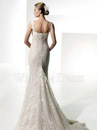 lace wedding dress with jacket mermaid trumpet square sleeveless chapel lace jacket floral