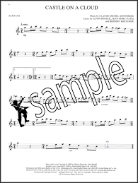 les miserables selections from the movie alto sax sheet music book