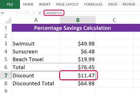 percentage calculator excel how to calculate percentage savings in microsoft excel techwalla com