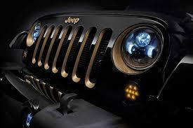 led lights for jeep wrangler mopar led 7 round headlights for jeep jk 82214333ab