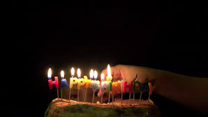 happy birthday colored candles burning stock footage video 5600189