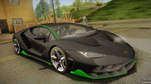 car lamborghini 2017 lamborghini centenario lp770 4 2017 carbon body for gta san andreas