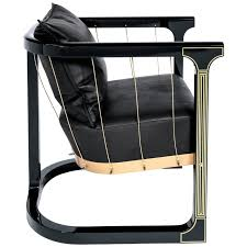 Wooden Frame Armchair Armchair U0027grand U0027 Glen Baghurst Piano Lacquer Wood Brass Leather
