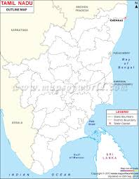 India Blank Outline Map by Tamilnadu Outline Map Tamilnadu Map Pinterest India