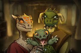 Orc Rule 34 - the happy argonian family by galoogamelady on deviantart