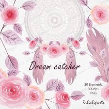 catcher lace catcher floral watercolor feathers