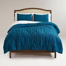 Ruched Bedding Ella Ruched Comforter In Legion Blue World Market