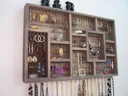 Bedroom Wall Organizer by Organize Your Jewelry Using This Display Case This Wood Wall Art