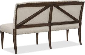 Dining Benches With Backs Upholstered Hooker Furniture Dining Room Roslyn County Upholstered Dining