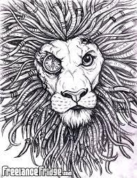bionic lion sketch by jameskoenig1 on deviantart