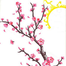 cherry tree clipart drawn pencil and in color cherry tree