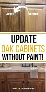 how to modernize honey oak cabinets how to update oak cabinets without painting by simply using