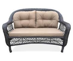 Cushions For Wicker Settee Wilson U0026 Fisher Hampstead Resin Wicker Settee Bench With Cushions