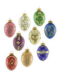 russian imperial large egg ornament set