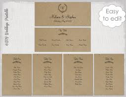 how to make table seating cards seating chart template rustic leaf garland