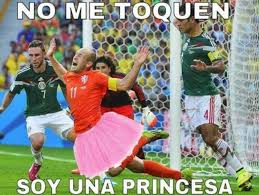 World Cup Memes - robben don t touch me i m a princess 2014 fifa world cup
