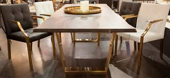 fancy gold dining table all dining room
