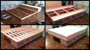 Diy Platform Bed Drawers by 10 Diy Storage Bed Ideas Home Design Garden U0026 Architecture
