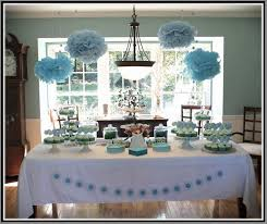 Baby Shower Table Ideas Baby Boy Shower Ideas On A Budget 1893