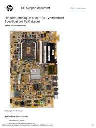 motherboard specifications wj5 leon omni 120 1111la usb intel