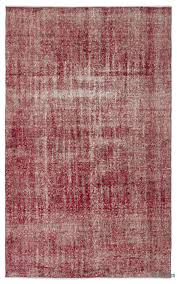 Lilac Rug K0024788 Red Over Dyed Turkish Vintage Rug Kilim Rugs Overdyed