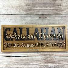 5 year anniversary gift buy a made last name established sign family name signs
