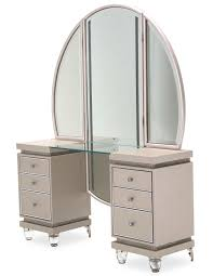 Aico Furniture Outlet 2 Piece Aico Glimmering Heights Vanity With Mirror Usa Furniture