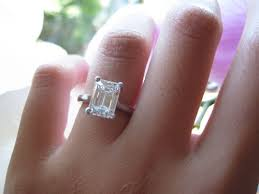 emerald cut engagement rings 2 carat post pics of your 2 ct rings page 5 purseforum