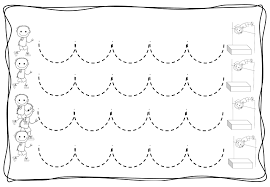 Kids Writing Worksheets Coloring Pages Kids Pre Writing Zig Zag Worksheets 6 Fruits And